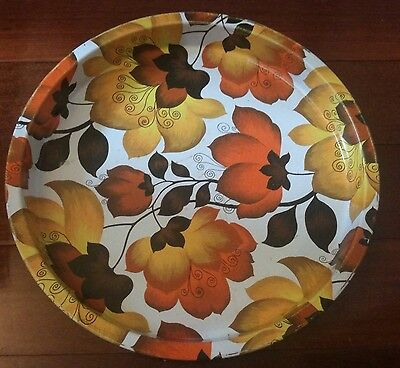 Vintage Retro Autumn Flower Bar Tray Man Shed Great Collectors Item