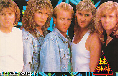 Poster: Music: Def Leppard - All 5 Posed 1987 - Free Shipping !  #dlp001  Lw8 N