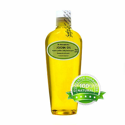 PURE CERTIFIED GOLDEN JOJOBA OIL  ORGANIC  2, 4, 8, 12,16, 32 oz up to gallon
