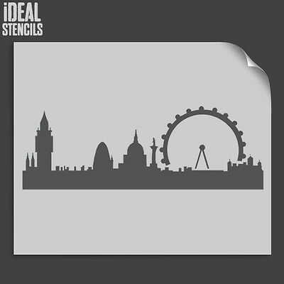 London Skyline Silhouette Stencil Wall Decor Art Craft Paint Ideal Stencils Ltd