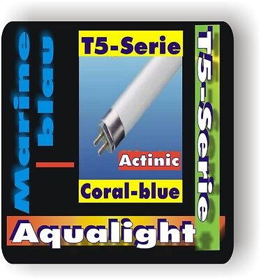 Aqualight Aquarium T5 2Stück Neonröhre Coral Blue 4 W.