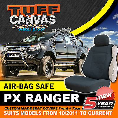 TUFF CANVAS FORD PX RANGER Dual Cab Seat Covers 2ROWs XL XLT 10/2011-5/2015 MK1