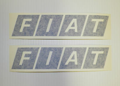 New FIAT Logo Badge Decal Sticker Pair Rally Racing X1/9 124 128 131 500 850
