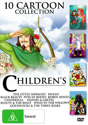 CHILDREN'S 10 CARTOON COLLECTION - Region4 DVD - BRAND NEW