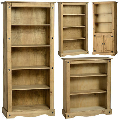 Mexican Pine Corona Bookcase, Bookshelf, Shelves *Free Next Day Delivery