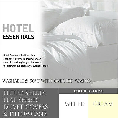 Hotel Essentials Full Bed Sheets Solid Fitted / Flat Sheet Duvet Covers & Cases