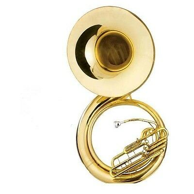 NEW brass sousaphone outfit Bb key gold lacquer 3 valves  #78908