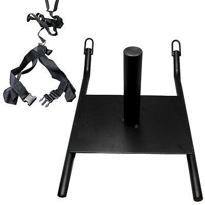 SPEED SLED WITH HARNESS WEIGHTED DRAG SPORTS FOOTBALL CROSSFIT RUNNING