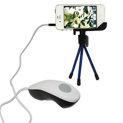 Easy Self Shot Camera Shutter Release Remote Control Cable & Tripod For iPhone