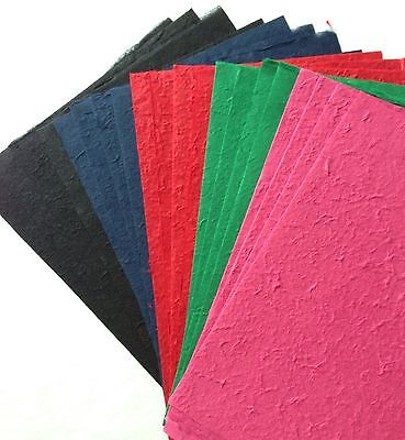 Bold Colors 20 Full Sheets Handmade Saa Mulberry Paper Scrapbook, Card Making