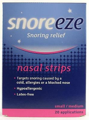 SnoreEze Nasal Strips Ideal for snorers suffers, Aid to a restful night sleep