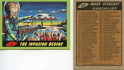 Mars Attacks 2012 GREEN PARALLEL CARD SET 55 Cards