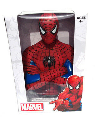 MARVEL/'S SPIDER-MAN SPIDER-MAN  MARVEL COMICS COIN BANK BUST NEW AGES 4+