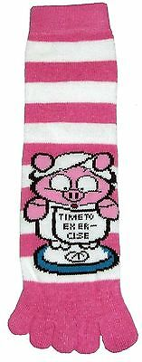 Time to Exercise (TS002) Adult Toe Socks New Gift Fun Unique Cute