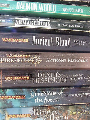 Warhammer Fiction Mostly Old Oop Books Used Condition Multi Variation Listing