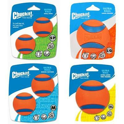 Chuckit ULTRA BALL Tough Rubber Dog Fetch Play Launcher Tennis Play Balls Toys