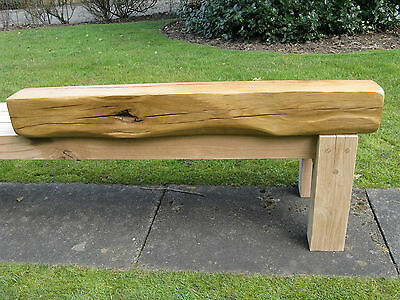 """Rustic oak floating beam mantle fire suround Air dried 6x5"""""""