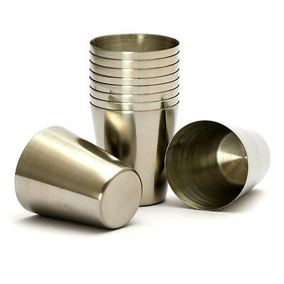 10PCS High Quality stainless steel shot glasses 30ML new