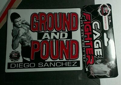 Mma Authentic Cage Fighter Ground And Pound Diego Sanchez Window Cling