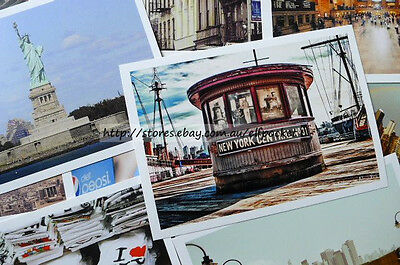 16 Pcs Walking In New York Travel Photo Decoration Postcards Greeting Gift Cards