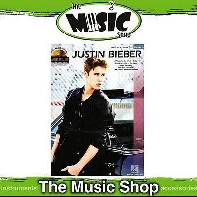New Justin Bieber Piano Play Along Book & CD - Volume 110