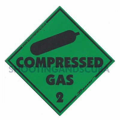 Magnetic Compressed Gas WARNING TRIANGLE Gas Sticker