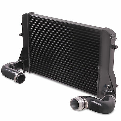 Black Alloy Front Mount Intercooler Fmic Kit For Vw Golf Mk5 Mk6 2.0 Tdi Gti R