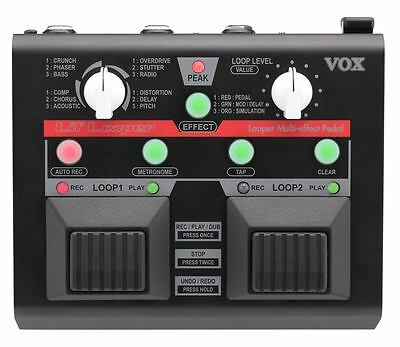 VOX VLL-1 Lil' Looper Guitar or Vocal Effects Pedal - Dual Loops and Effects