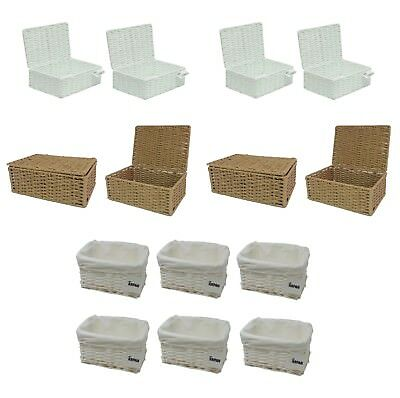 Baskets - Small Seagrass or Wicker in Multiple Packs, Storage, Gift Hamper, Xmas