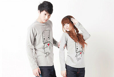 FASHION Lovers Couple T-shirt Lycra Cotton Flexible Thick Women Men Autumn Y2032