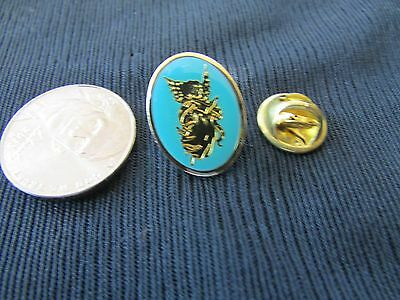 Angel Winged Gold Tone Light Blue Enamel Lapel Tac Pin