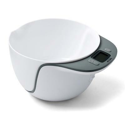 Electronic Mixing Bowl Scale 5kg - WHITE - ACCURA Saturn - RRP $79.95 NOW $39.95