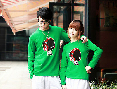 Fashion Lovers Couple T-shirt Lycra Cotton Flexible Thick Women Men Autumn Y2035