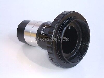"Skywatcher 1.25"" Telescope T-Adapter/2x barlow for Nikon SLR. Boxed.Metal"