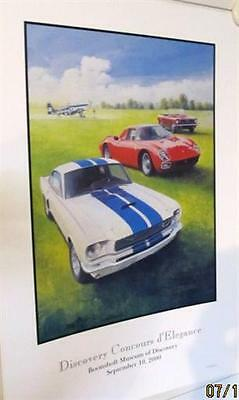 2000 CONCOURS D/'ELEGANCE FORD MUSTANG LIMITED EDITION AUTO SHOW POSTER W// COL!