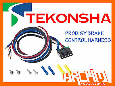 Tekonsha Brake Control Pigtail Harness Suits P3/p2/primus Iq/caravan/trailer