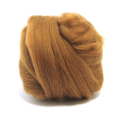 50g Dyed Merino Wool Top Sienna Brown Dreads Needle Spinning Felting Roving