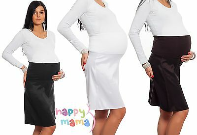 Pregnancy Maternity Adjustable Overbump Smart Work Office Skirt  Sizes 6-18  844