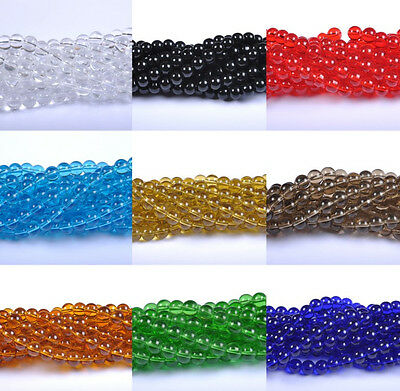 20-100pcs 4,6,8,10,12MM Top Quality Czech Glass Round Spacer Loose Beads