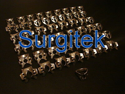100 ENDODONTIC RUBBER DAM CLAMPS MIX ASSORTED NUMBERS Stainless Steel