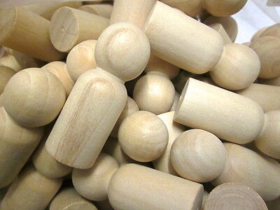 6cm wood Peg dolls  5, 10, 15, or 20.  Toymaking, Pawns Little People