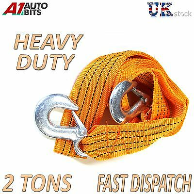 2000kg 2T 3.6M Tow Towing Pull Rope Strap Heavy Duty Road Recovery Car Van 4x4