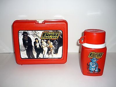 1980 EMPIRE STRIKES BACK LUNCH BOX w/THERMOS - Vintage Star Wars - COMPLETE!!!