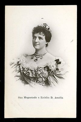 Royalty Portugal Queen Consort RAINHA D AMELIA early RP PPC