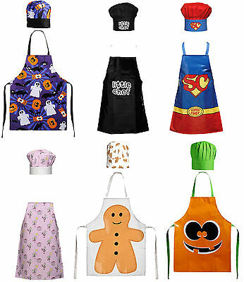 Childrens Kids Kitchen Apron & Butcher Chef Apron In 6  New Designs