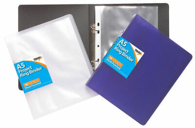 A5 Slim Ring Binder +10 Free Punched Pockets/Accessories Filing Display Folder