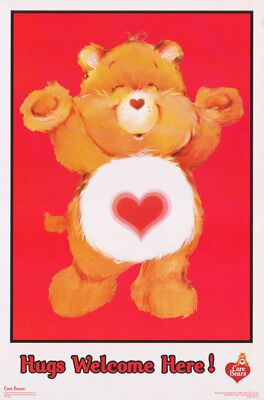Poster :children's: Care Bears - Hugs Welcome Here - Free Ship #fl3343S  Rp61 P