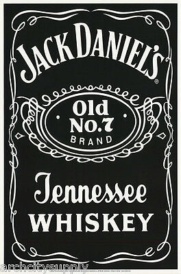 Poster: Beer & Liquor: Jack Daniels - Blacklight & Flocked    #9042F  Rc42 N