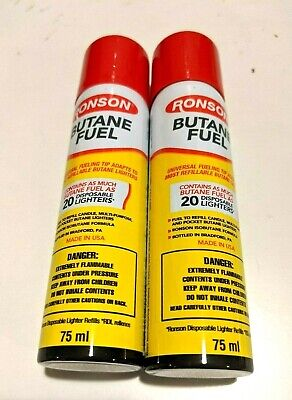 12 Ronson Butane 42grm Refill 1.48oz Fuel Gas for Torch Lighter Cigarette Cigar