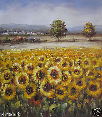 """Hand Painted Oil On Stretched Canvas 20""""x24"""" ~Sunflowers~"""